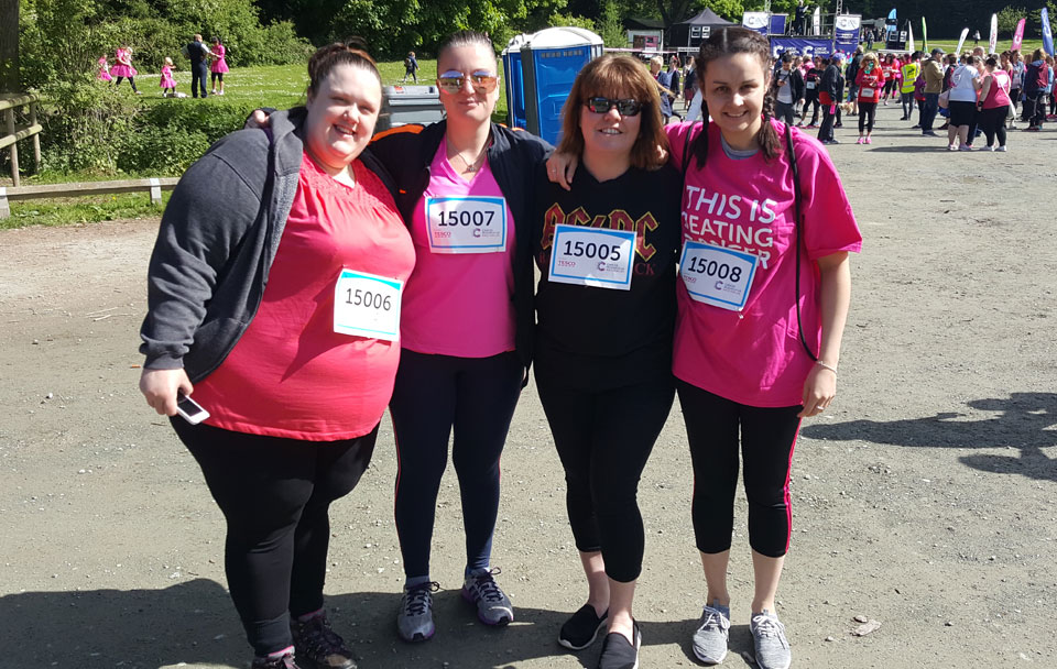 Members of the Crystal Legal team fundraising for charity