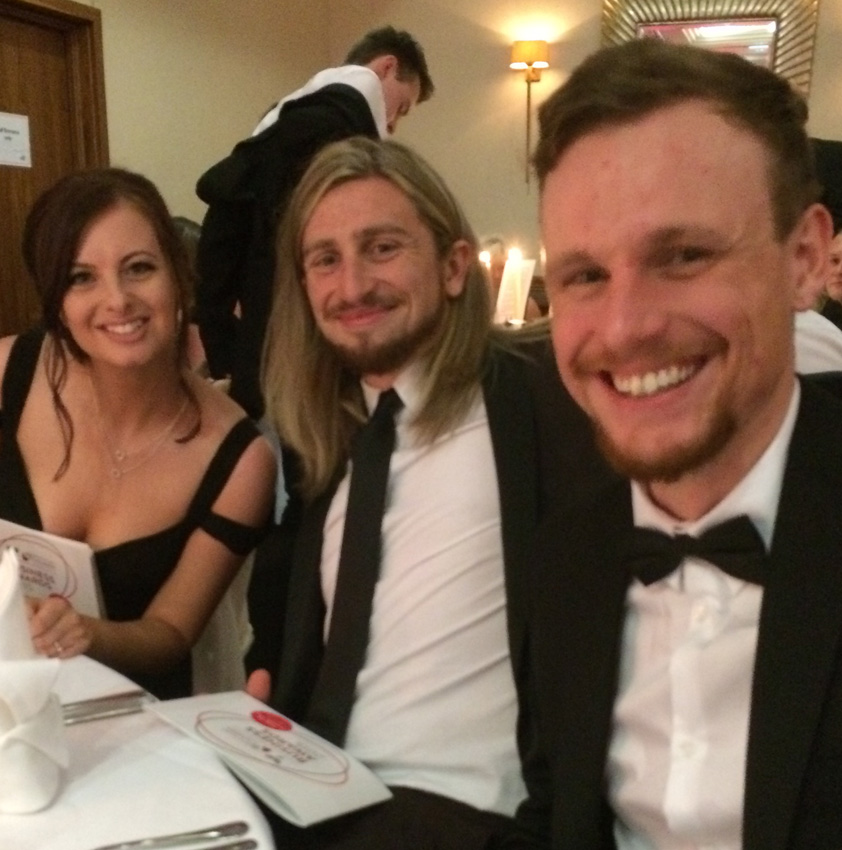 Members of the Crystal team at an awards dinner